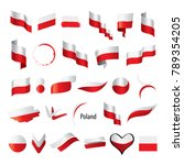 poland flag  vector illustration | Shutterstock .eps vector #789354205