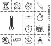 measure icons. set of 13... | Shutterstock .eps vector #789358606