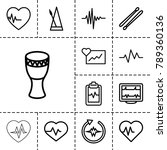 beat icons. set of 13 editable... | Shutterstock .eps vector #789360136