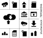 upload icons. set of 13... | Shutterstock .eps vector #789360346