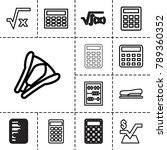 calculator icons. set of 13... | Shutterstock .eps vector #789360352