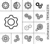 gears icons. set of 13 editable ... | Shutterstock .eps vector #789362356