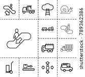 moving icons. set of 13... | Shutterstock .eps vector #789362386