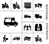 deliver icons. set of 13... | Shutterstock .eps vector #789362458
