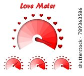 love meter  valentine's day... | Shutterstock .eps vector #789363586