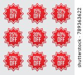 sale tags set vector badges... | Shutterstock .eps vector #789363622