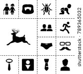 male icons. set of 13 editable... | Shutterstock .eps vector #789365032