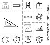 measurement icons. set of 13... | Shutterstock .eps vector #789365062