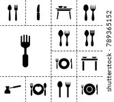dishware icons set of 13