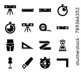 measure icons. set of 16... | Shutterstock .eps vector #789366352