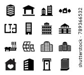 apartment icons. set of 16... | Shutterstock .eps vector #789366532