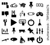 push icons. set of 25 editable... | Shutterstock .eps vector #789366676