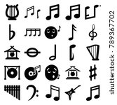 melody icons. set of 25... | Shutterstock .eps vector #789367702