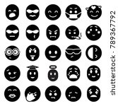 emotion icons. set of 25... | Shutterstock .eps vector #789367792