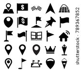 location icons. set of 25... | Shutterstock .eps vector #789367852