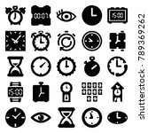 watch icons. set of 25 editable ...   Shutterstock .eps vector #789369262