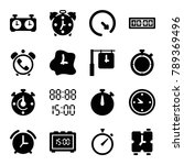 countdown icons. set of 16... | Shutterstock .eps vector #789369496