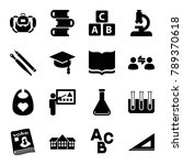 education icons. set of 16... | Shutterstock .eps vector #789370618