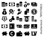 cash icons. set of 25 editable... | Shutterstock .eps vector #789370822