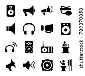 speaker icons. set of 16... | Shutterstock .eps vector #789370858