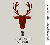 burns night supper card with... | Shutterstock .eps vector #789370915