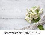 Snowdrop Bouquet On A Wooden...