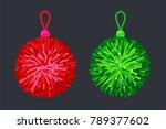 soft pompon balls. vector...   Shutterstock .eps vector #789377602
