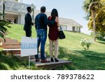 rear view of couple visiting... | Shutterstock . vector #789378622