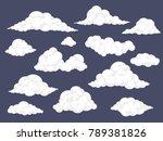 set of cartoon clouds. fluffy... | Shutterstock .eps vector #789381826