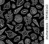seashell vector pattern | Shutterstock .eps vector #789382162
