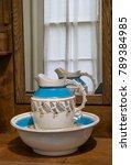 antique porcelain bedroom water ...   Shutterstock . vector #789384985