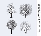 tree silhouettes for design | Shutterstock .eps vector #789387832