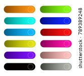 colorful set of web buttons... | Shutterstock .eps vector #789389248