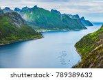 norwegian fjord  island senja | Shutterstock . vector #789389632