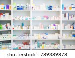 Medicines Arranged In Shelves...