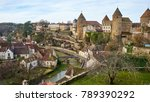 Cityscape Medieval Town Of...