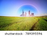 green field  agricultural... | Shutterstock . vector #789395596