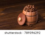 roasted coffee beans in a...   Shutterstock . vector #789396292