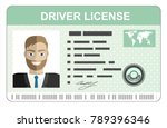 car driver license... | Shutterstock . vector #789396346