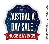 australia day sale label or... | Shutterstock .eps vector #789396652
