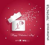 valentine's day concept vector... | Shutterstock .eps vector #789396718