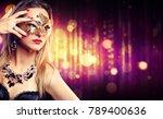 attractive model woman wearing... | Shutterstock . vector #789400636