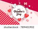 happy valentines day and... | Shutterstock .eps vector #789401902
