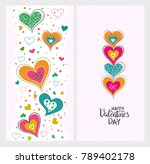 happy valentines day template... | Shutterstock .eps vector #789402178
