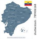 ecuador map and flag   high...   Shutterstock .eps vector #789406168