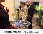 blurry background waiter...   Shutterstock . vector #789408262