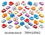 colorful 3d isometric set | Shutterstock .eps vector #789410962