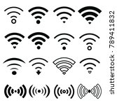 wifi internet connection and... | Shutterstock .eps vector #789411832