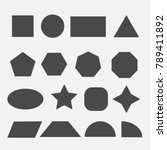 shapes square circle rectangle... | Shutterstock .eps vector #789411892