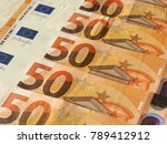 fifty euro banknotes money  eur ... | Shutterstock . vector #789412912